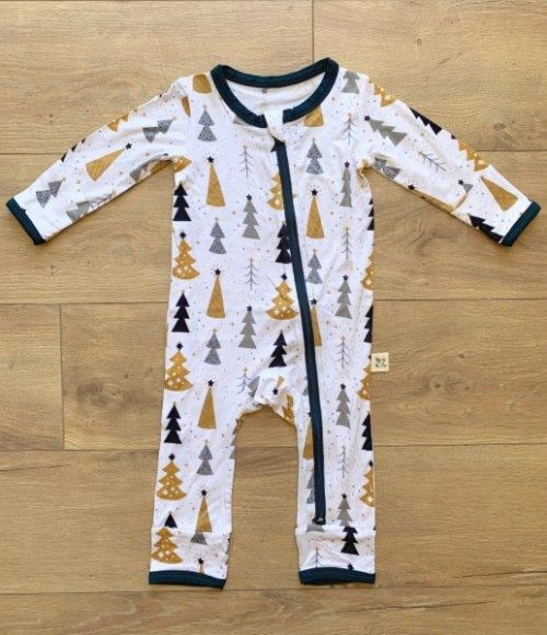 Kozi & Co Coverall Silver & Gold Trees