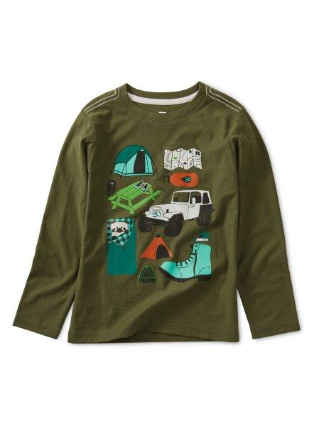 Tea Collection Camp Collage Graphic Tee