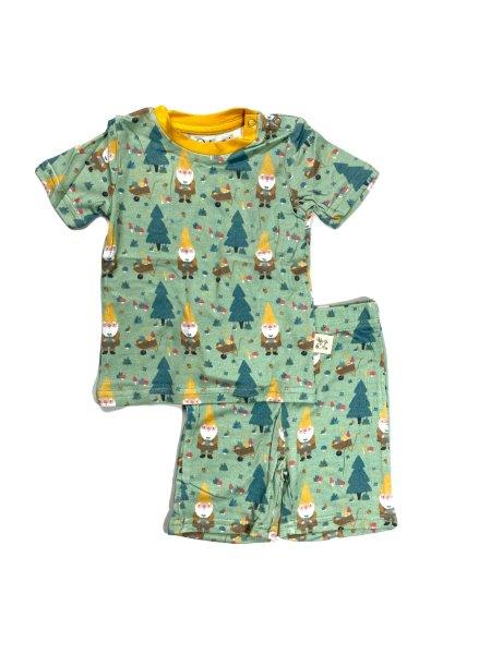 Kozi & Co PJ Set with Shorts Garden Gnome
