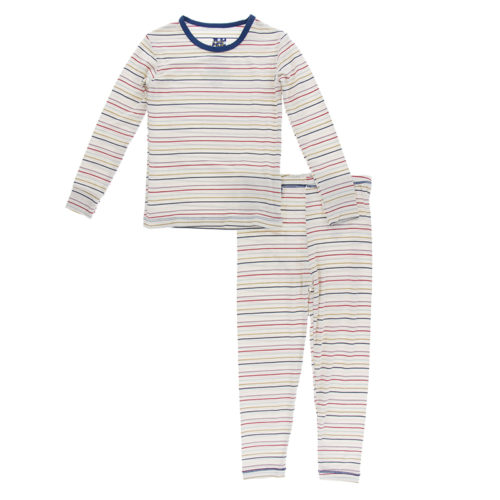 Kickee Pants PJ Set Everyday Heroes Multi Stripe (Delivery 2)