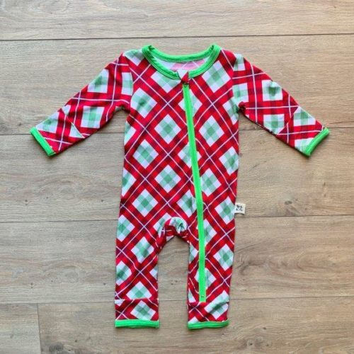 Kozi Coverall  Holly Plaid