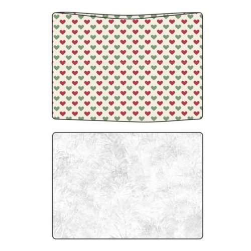 Sweet Bamboo  Holiday Hearts Blanket with Sherpa Lining